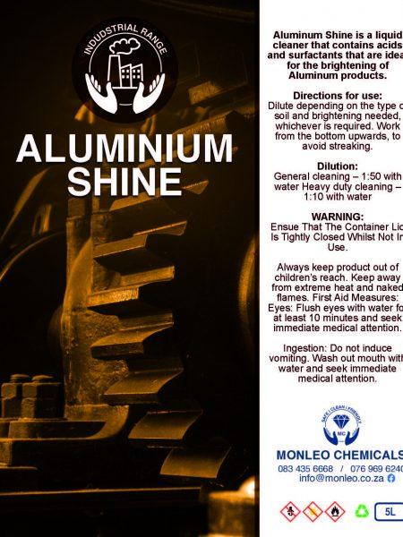 Monleo Chemicals Industrial Range | Aluminum Shine