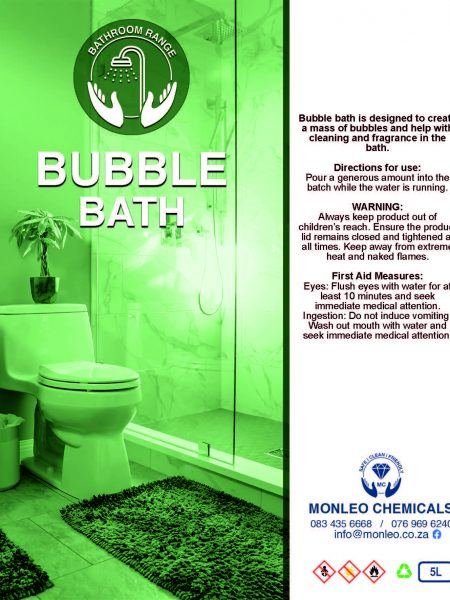 Monleo Chemicals Bathroom and ablutions range | Bubble Bath