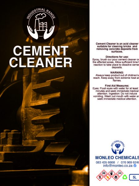 Monleo Chemicals Industrial Range | Cement Cleaner