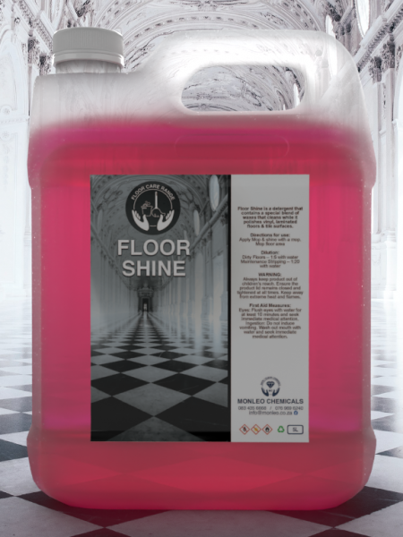 Floor Shine 5 Liter pink liquid container, shiny floor, floor shine, soap, cleaner, disinfectant, surface cleaner, convent, easy to carry, hand wash, hand cleaner, quality, local, south African, Johannesburg, Sandton, Pretoria, Boksburg, Hospital, COVID, COVID-19, COVID2020, COVID2021, clinic, clicks, dischem, chemical, Safety, Bacteria, viruses, germs, dirt, disinfectant, handy andy ,Jik, original, name brand,approved, cleaning products sold online,local cleaning products, best quality