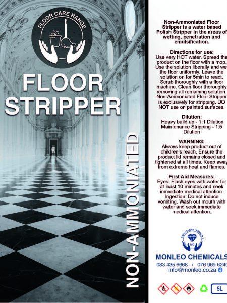 Monleo Chemicals Flooring Range | non-ammoniated floor stripper