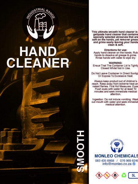 Monleo Chemicals Industrial Range | Smooth Hand Cleaner, grease remover