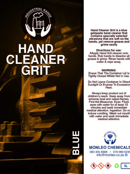 Monleo Chemicals Industrial Range | Hand Cleaner Grit