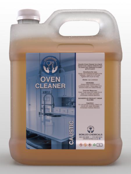 Monleo Chemicals | Caustic Oven Cleaner, 5L Container, dark brown orange liquid