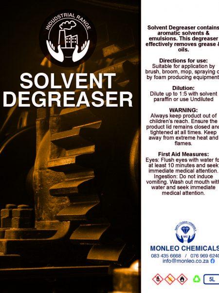 Monleo Chemicals Industrial Range   Solvent Degreaser