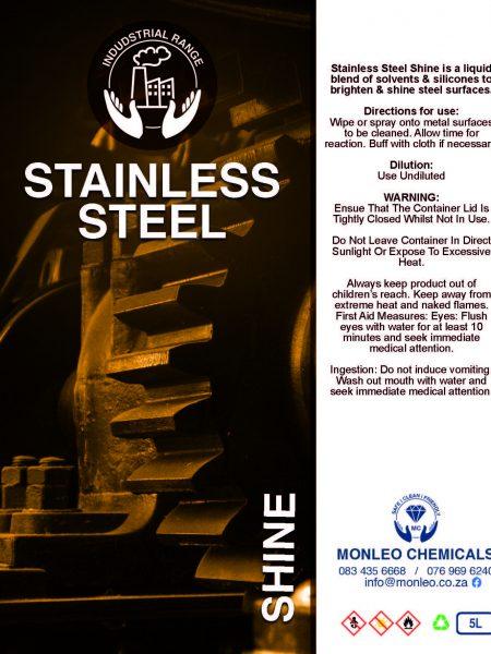Monleo Chemicals Industrial Range   Stainless Steel Shine