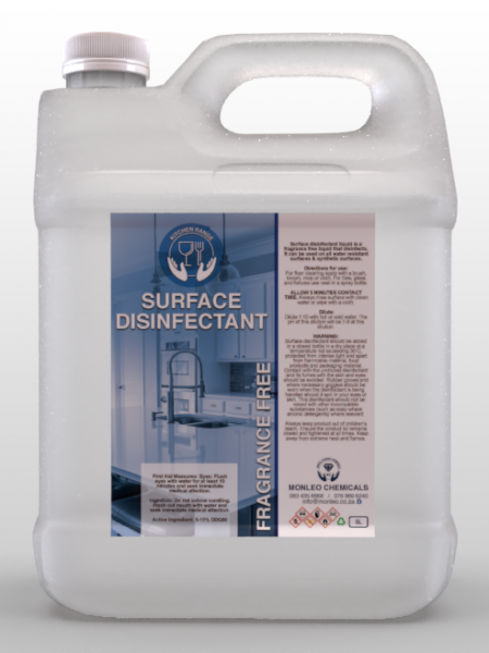 5 Liter plastic container Surface Disinfectant Fragrance Free, soap, cleaner, disinfectant, surface cleaner, convent, easy to carry, hand wash, hand cleaner, quality, local, south African, Johannesburg, Sandton, Pretoria, Boksburg, Hospital, COVID, COVID-19, COVID2020, COVID2021, clinic, clicks, dischem, chemical, Safety, Bacteria, viruses, germs, dirt, disinfectant, handy andy ,Jik, original, name brand,approved,, surface cleaner, cleaning products sold online,cleaning products ,safe to use ,good quality,affordable