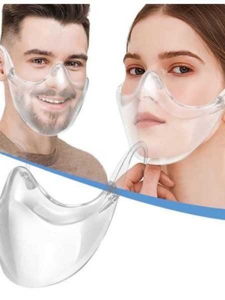 Clear View Face Shield, Covid19 transparent see through face mask